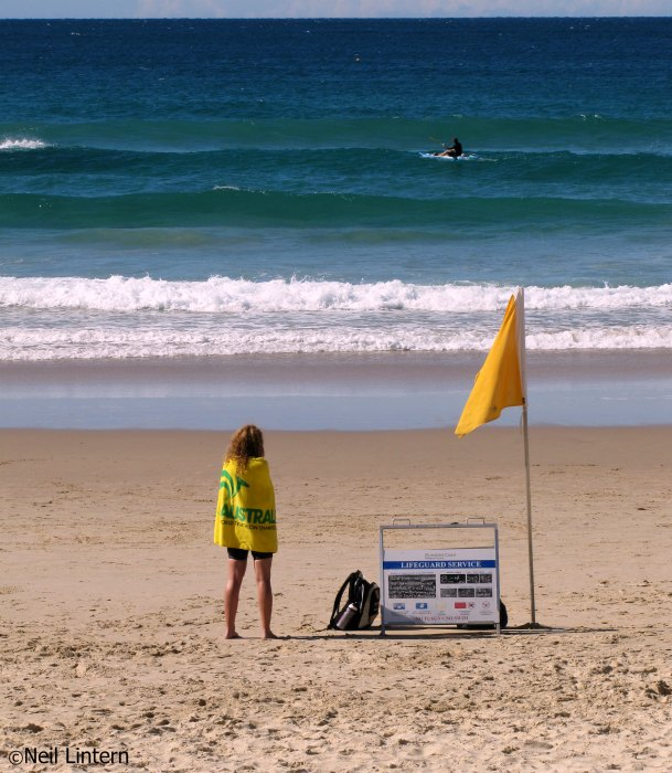 Coolum Beach, Surf, Lifeguard, QLD, Australia