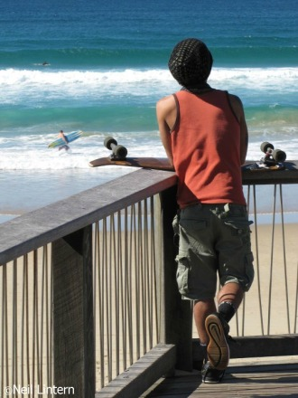 Skater at Coolum Beach, QLD
