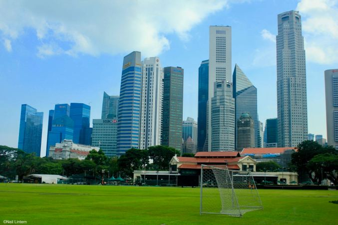 Football and Cricket, Singapore CBD