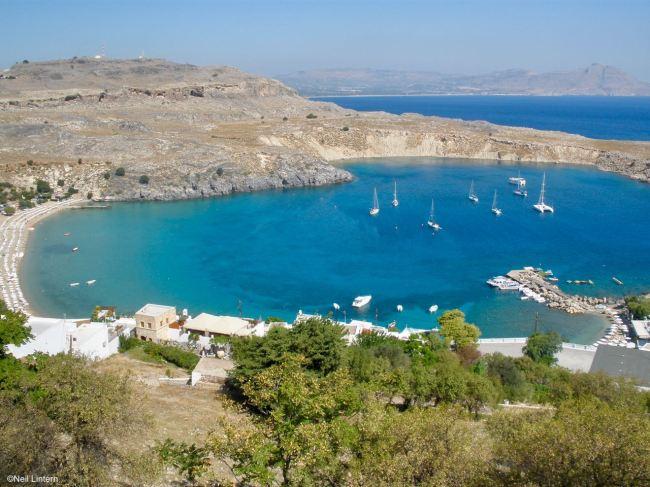Lindos Bay, Lindos, Rhodes, Greece