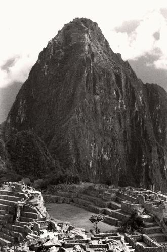 Machu Picchu, Peru, 35mm black and white film