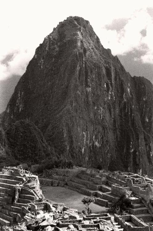 Machu Picchu, Peru, 35mm black and white film
